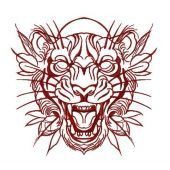 Tribal tiger embroidery design 4