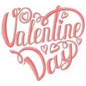 Valentine Day embroidery design 2