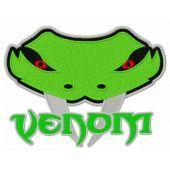 Venom Elite logo machine embroidery design