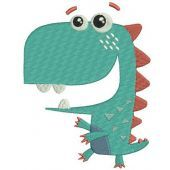 Walking dinosaur embroidery design