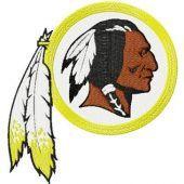 Washington Redskins logo machine embroidery design