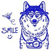 Wolf the photographer machine embroidery design 2