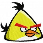 Angry birds Yellow embroidery design