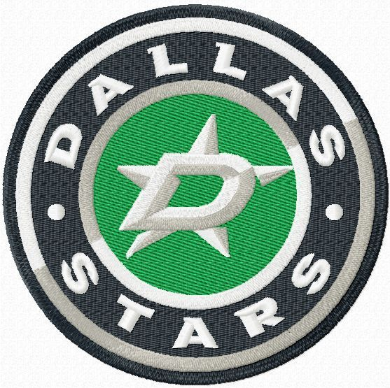 Dallas Stars Hockey Team Logo Embroidery Design
