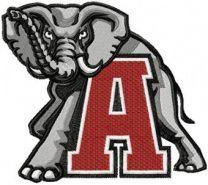 Alabama Crimson Tide Logo machine embroidery design
