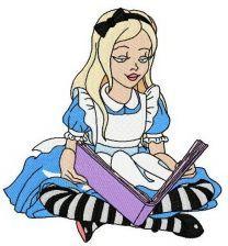 Alice reading