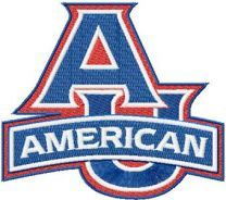 American University Logo machine embroidery design