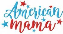 American mama embroidery design