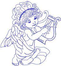 Little Angel machine embroidery design