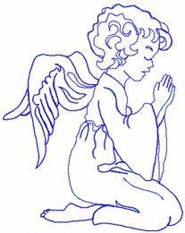 Little Angel machine embroidery design 2