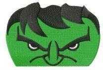 Angry hulk's face
