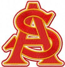 Arizona State University machine embroidery design