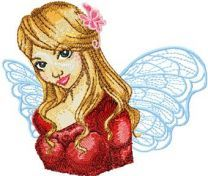 As Angel embroidery design