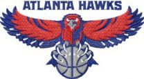 Atlanta Hawks logo machine embroidery design