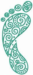 Baby footprint embroidery design