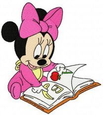 Minnie Mouse reading