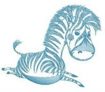 Baby zebra embroidery design