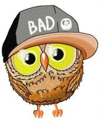 Bad owl machine embroidery design 3
