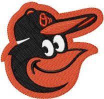 Baltimore Orioles gap logo machine embroidery design