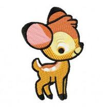 Small Bambi embroidery design