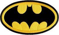 Batman logo applique machine embroidery design