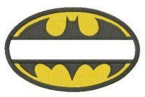 Batman oval monogram