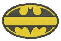 Batman oval yellow monogram