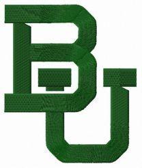 Baylor Bears logo embroidery design