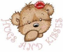 Bear Girl Hugs and Kisses