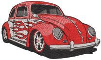 Beetle hot wheels embroidery design