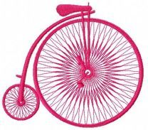 Bicycle machine embroidery design 2