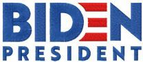 Biden President embroidery design
