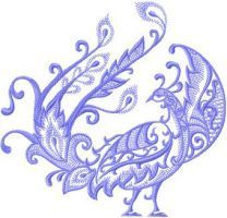 Bird of Happiness embroidery design