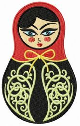 Black and red matryoshka doll