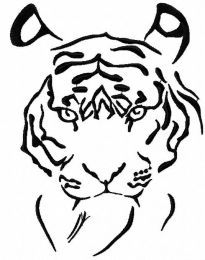 Black tiger free embroidery design