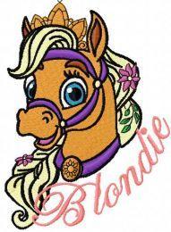 Blondie embroidery design 4