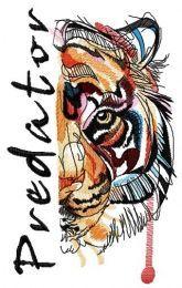 Bloody tiger muzzle predator