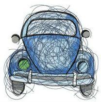 Blue car sketch