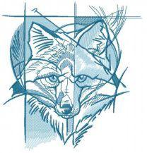 Blue fox street art