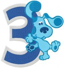 Blues Clues 3 years embroidery design