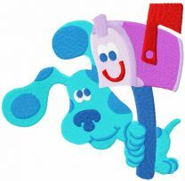 Blues Clues with mailbox embroidery design