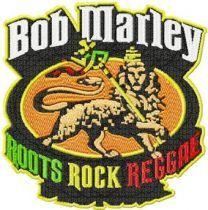 Bob Marley Logo machine embroidery design