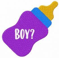 Boy milk bottle