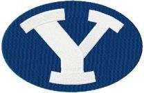 Brigham Young Cougars Logo machine embroidery design
