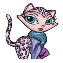 Brigitte Kitty embroidery design