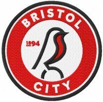 Bristol city logo embroidery design