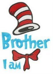 Brother I am embroidery design