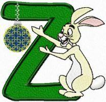 Rabbit letter Z