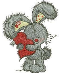 Bunny hugs your heart