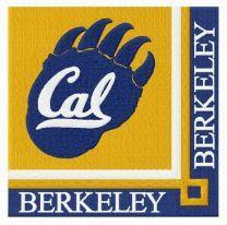 California Golden Bears logo embroidery design
